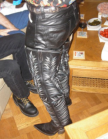 Morris Is Wearing His Crotch High Paul Bond Boots